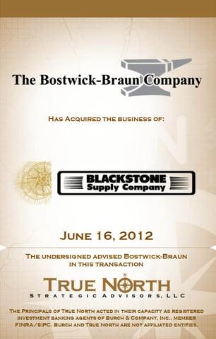 Bostwick - Blackstone