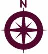 Burgundy compass