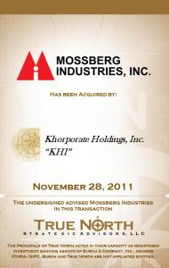 Mossberg Industries Inc.