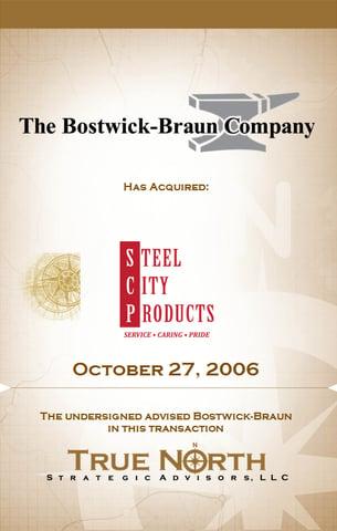 Bostwick Braun - Steel City Products 503 X 792