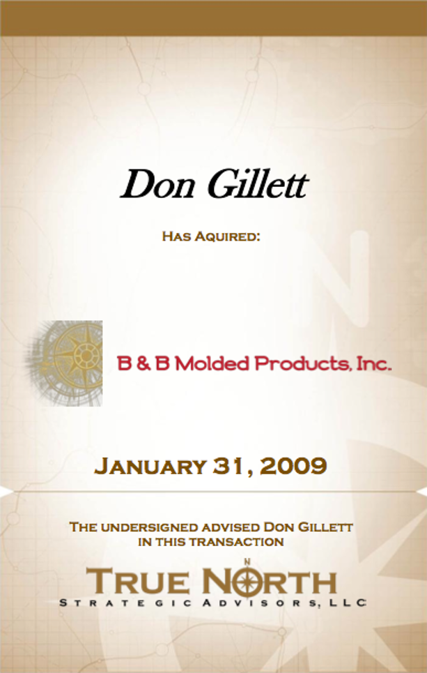 Don Gillett B & B Molded Products