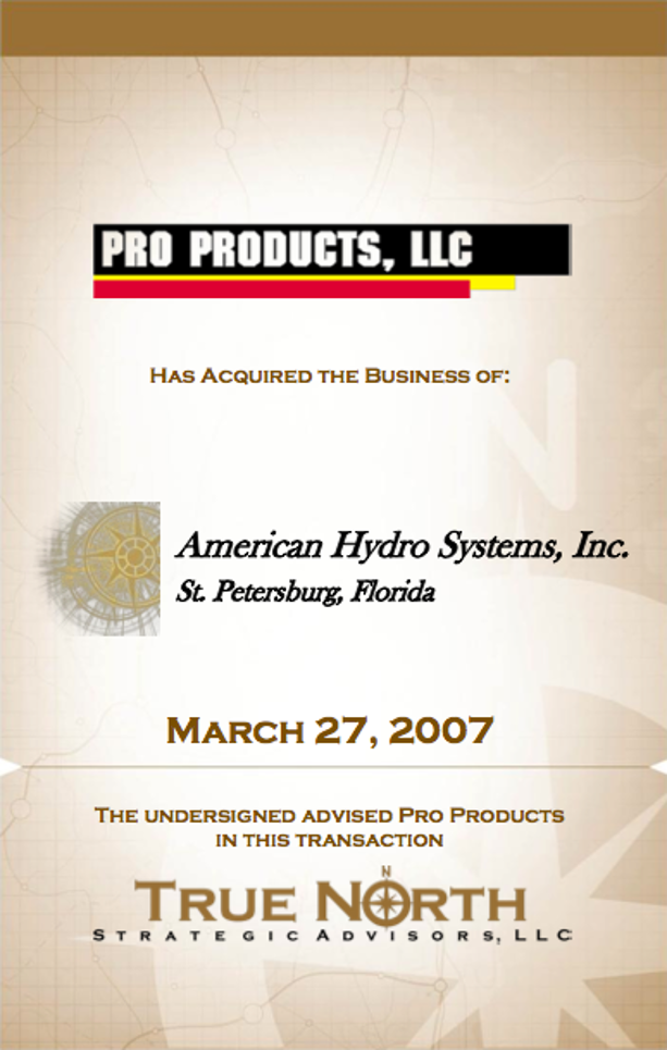 Pro Products - American Hydro