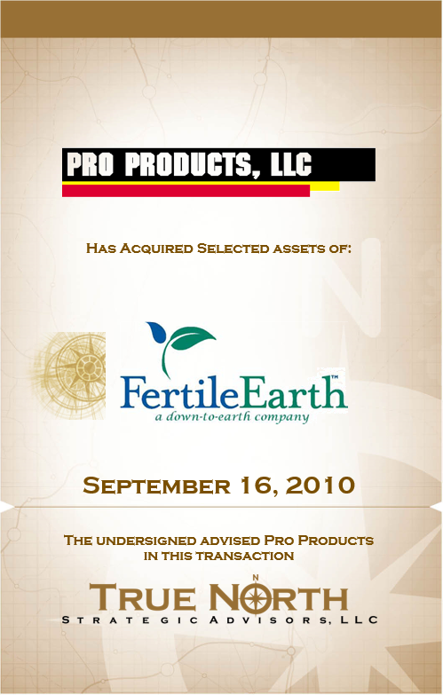 Pro Products - Fertile Earth