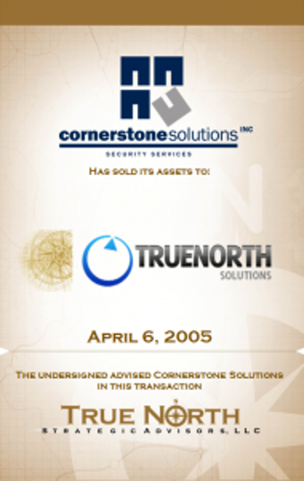 Cornerstone Solutions TrueNorth
