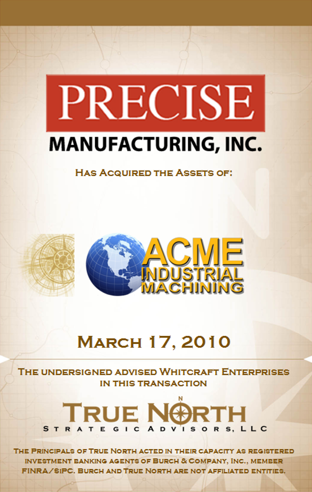 Precise Manufacturing Acme Industrial