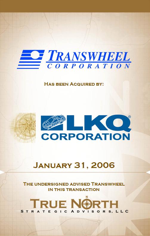 Transwheel Corporation - LKQ Corporation