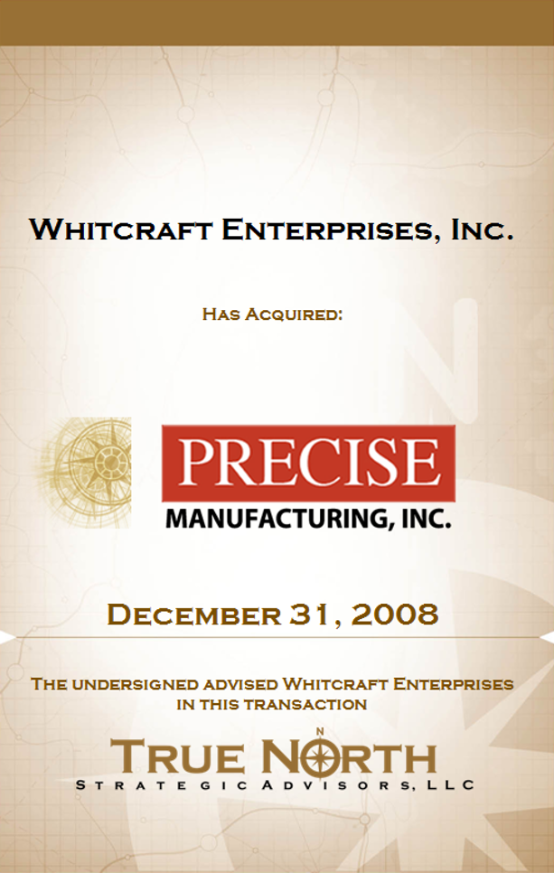 Whitcraft Enterprises Precise Manufacturing